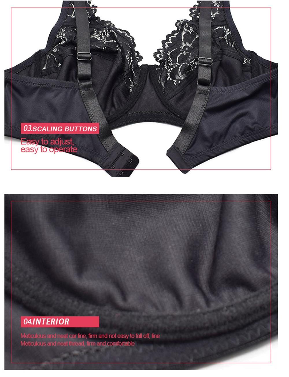 Женский кружевной бюстгальтер без подкладки с цветочным рисунком, прозрачный перспективный бюстгальтер, сексуальное женское белье на косточках, поддерживающий бюстгальтер, нижнее белье больших размеров