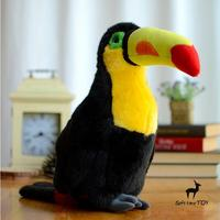 Simulation Tuokong Doll Thick Billed Toucan Plush Toy Rare Birds Wildlife Kids Toys Gift Home Decoration