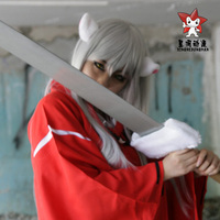 Anime InuYasha Cosplay Costumes Féodales Fairy Tale InuYasha Hommes de Halloween Costume Party + Perruques + Oreille