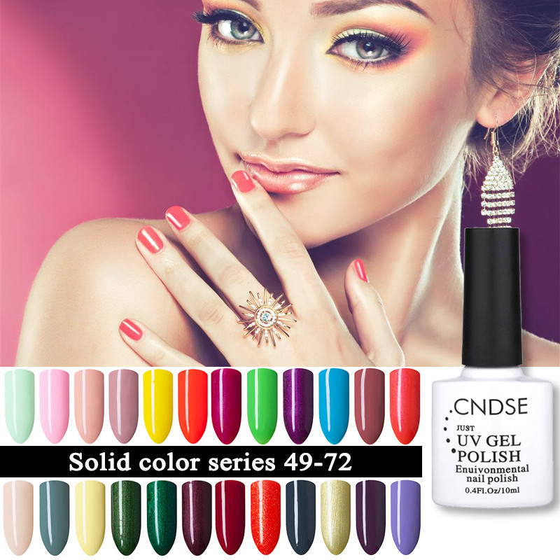 Cndse 96 одноцветное Цвет гель Лаки для ногтей LED УФ-гель длительное Замочите от УФ-ногтей гель для ногтей Лаки 10 мл GelPolish