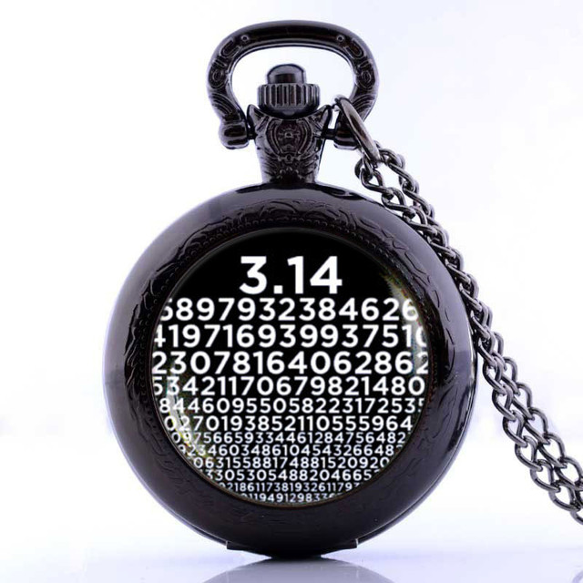 Pi Watch Necklace Numbers Pendant Symbol For Pi Math Teacher