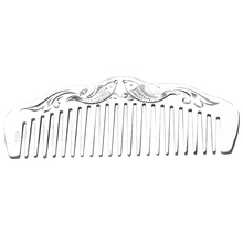 999 sterling silver comb hand-carved craft gift