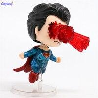 Tobyfancy Supman Bonito Ver A Figura de Ação de Super-heróis Da Liga Da Justiça. Agitar As Cabeças do Olho do laser PVC Figura Modelo Super Homem Brinquedo 10 CM