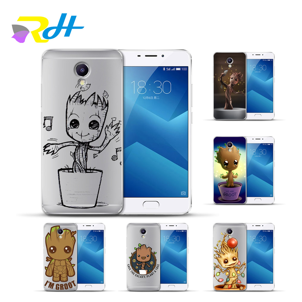 Cover Case For Meizu U10 U20 M5 Note M5C M3C Pro 6 M3S Max M5S M6 Note M3 Note Cases For Guardians of the Galaxy Pattern Capa