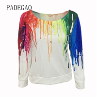 2017 T Shirts Women Summer Plus Size Colorful Long Sleeve Tarajuku T Shirts Woman Tshirt Top