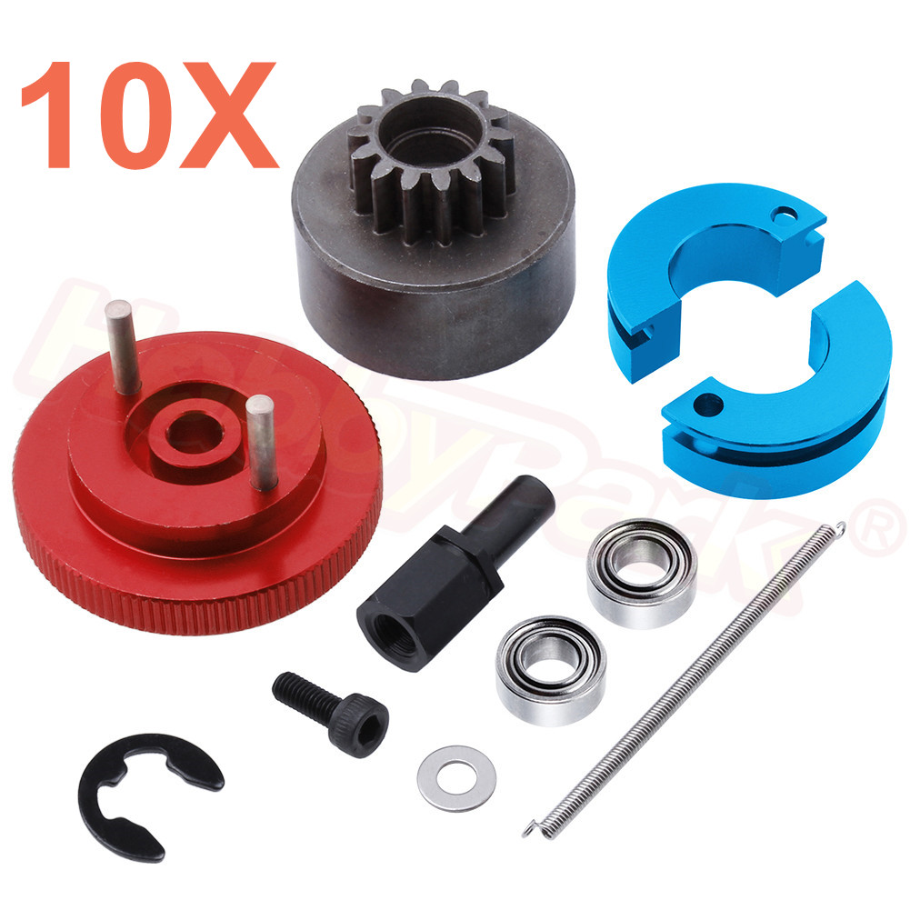 Wholesale 10 Set Lot 14T Clutch Bell Shoes with Spring Flywheel Assembly Kit Bearing for Redcat
