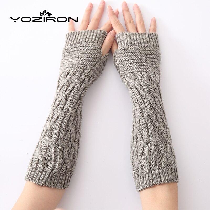 Bekleidung Zubehör Yoziron Neue Frauen Herbst Winter Arm Wärmer Ärmeln Arme Frauen Fingerless Handschuhe Schrumpffrei Armstulpen