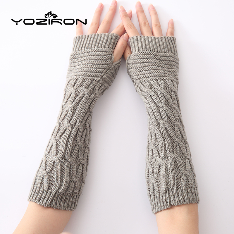 YOZIRON New Women Autumn Winter Arm Warmers Sleeves Arms Womens Fingerless Gloves