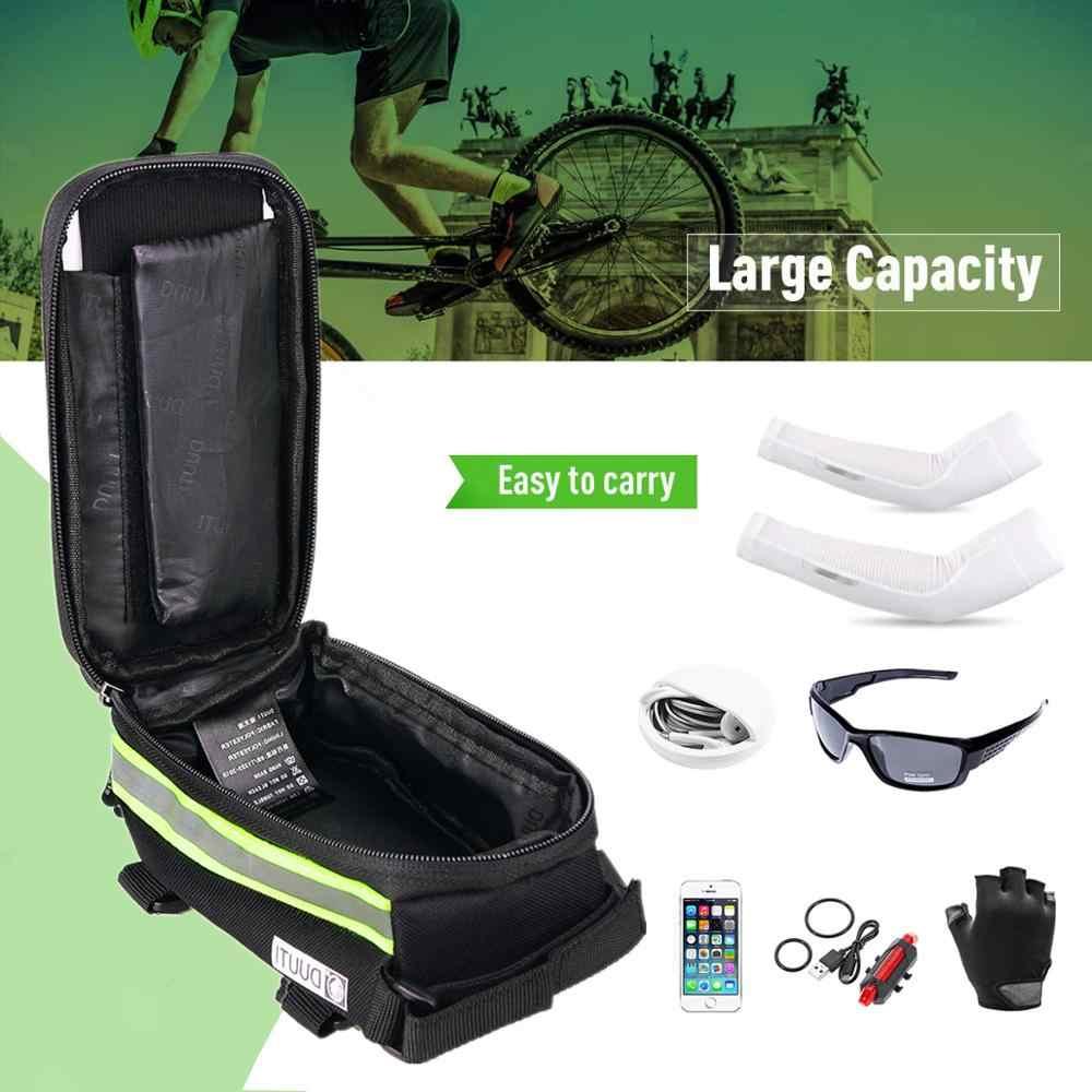 Waterproof Bicycle Bag Nylon Bike Cyling Bag Case Bicycle Panniers Frame Bag x