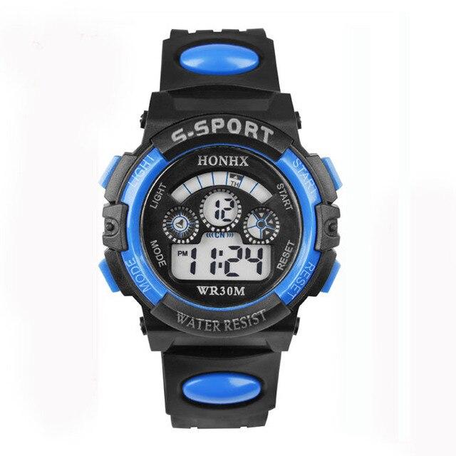 Brand Children Boy Digital Watch LED digital Alarm Date Sports Wrist Watch Alipo