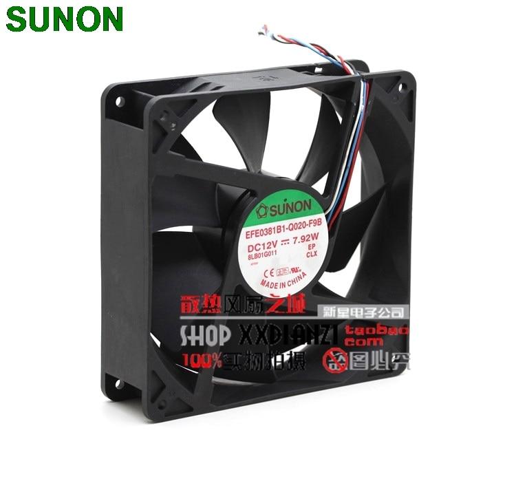 Sunon EFE0381B1-Q020-F9B 12V 14CM 140mm 7.92W PWM server inverter cooling fan  sunon 3006 30mm 3cm kde0503pev3 8 5v 0 35w 0 07a silent quiet server inverter hdd coolinig fan