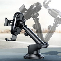 Mounted On Car Center Console Suitable for 4 6.5 inch Cell phones Auto Wireless Charging Mobile Phone Sucker Gravity Bracket