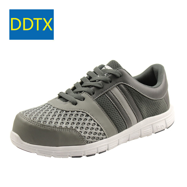 15585a0028 US $35.68 48% OFF|DDTX Summer Safety Shoes For Men Lightweight Steel Toe  Work Shoes Tenis Comfort Breathable Safety Footwear Sneaker Trainers  Grey-in ...