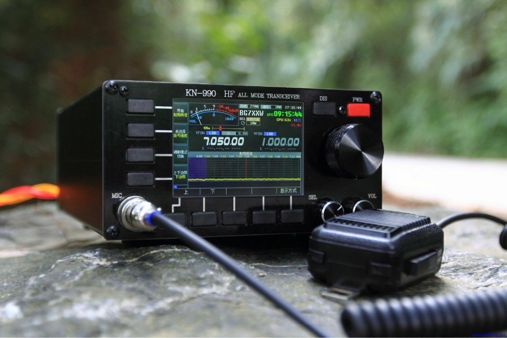 English Version KN-990 HF 0.1~30MHz SSB/CW/AM/FM/DIGITAL IF-DSP Amateur Ham Radio Transceiver Spectrum  + English Manual