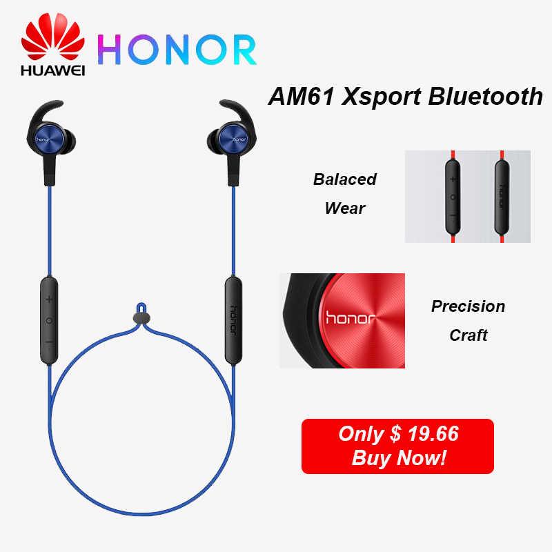 HUAWEI HONOR AM61 słuchawki Xsport bezprzewodowy zestaw słuchawkowy magnes projekt z IP55 wodoodporny bas dźwięk Bluetooth 4.1 dla Huawei P30