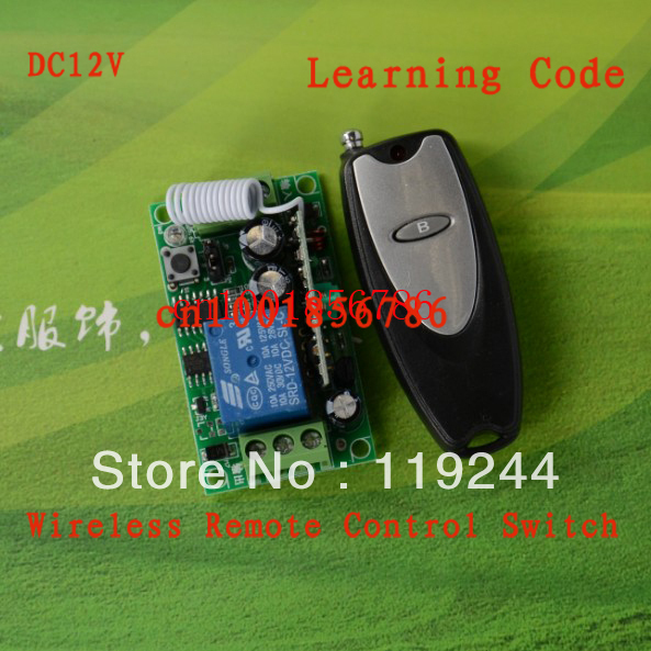 Free shipping 12V 1ch rf wireless remote control switch system 315mhz/433mhz learning code digital z-wave dc12v rf wireless switch wireless remote control system1transmitter 6receiver10a 1ch toggle momentary latched learning code