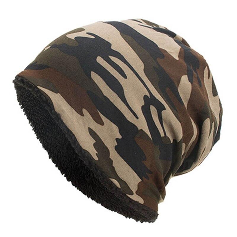 New Fashion Men Camouflage Flower Beanie Men Bonnet Bone Head Cap Winter Cotton Beanies Caps Hat Bonnet Homme
