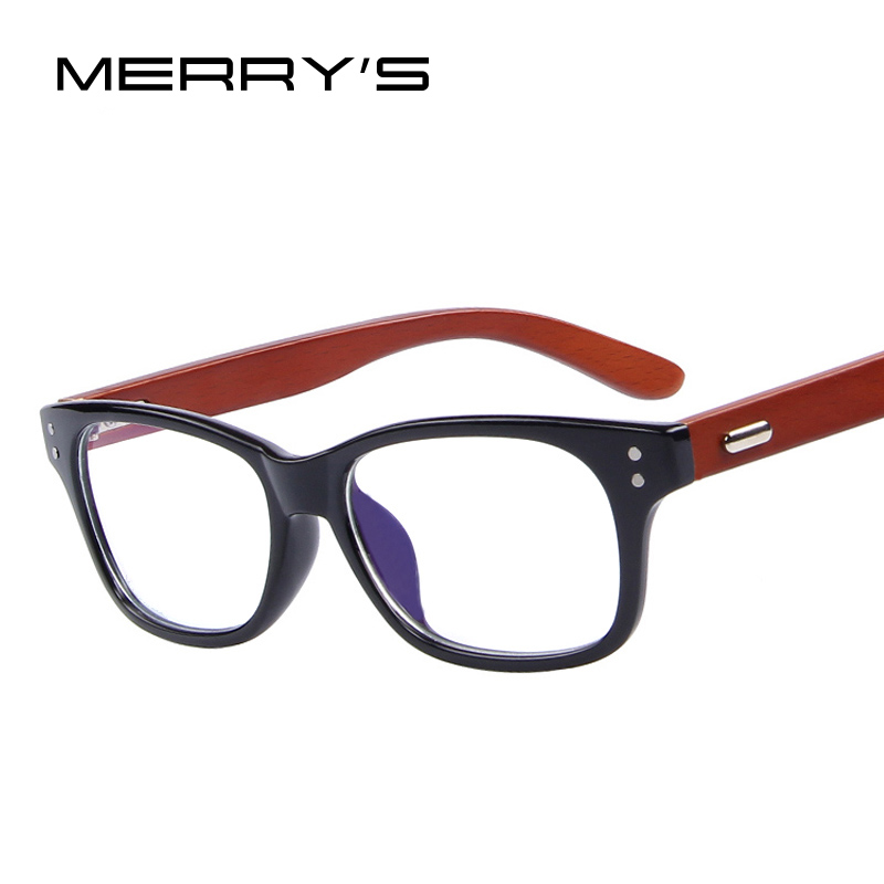 Glasses Frames Optical Express : MERRYS Wooden Optical Frames Fashion Men Rivet Eyeglasses ...