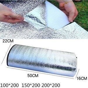 2020 новый водонепроницаемый алюминиевый фольгированный EVA коврик для кемпинга складной спальный пляжный матрас для пикника Коврик для улицы 3 размера 100 ~ 200X300CM