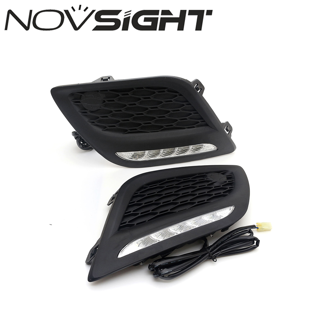 Auto LED DRL Daytime Running Light Driving Car Fog Lamp Head Light Source White 6000-7000K For VOLVO XC60 2014 Free Shipping 1pcs high power h3 led 80w led super bright white fog tail turn drl auto car light daytime running driving lamp bulb 12v