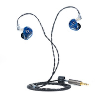 QDC Gemini 8 Balanced Armature 8BA Dual tone Earphones Professional HiFi custom In ear Earphones