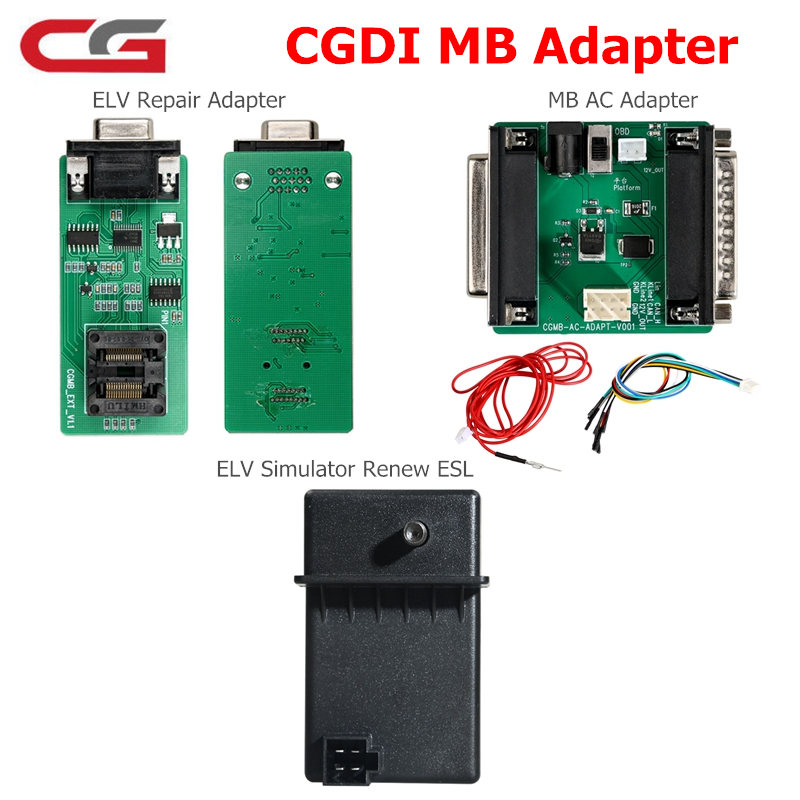 CGDI For Mercedes Benz Origianl Adapter MB AC Adapter ELV Repair ELV Simulator Renew ESL Works CGDI MB Benz Key Programmer-in Car Diagnostic Cables & Connectors from Automobiles & Motorcycles    1