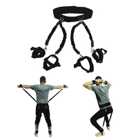 200lbs Resistance Bands Boxing Fitness Training Belt Leg Strength Exercise DX88