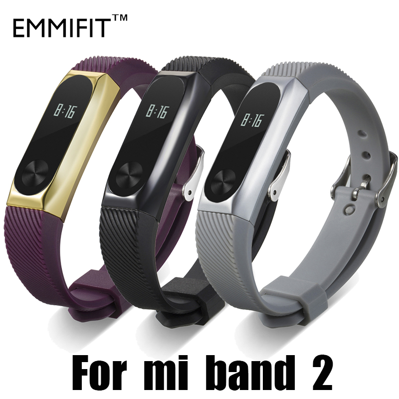 Xiaomi Mi Band 2 Bracelet Strap Miband 2 Colorful Metal Strap Wristband Replacement Smart Band