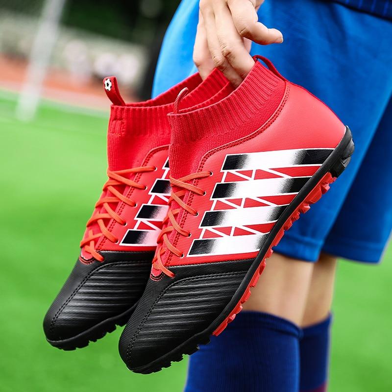 0314ca3a110 Men s Soccer Shoes TF Futsal Hard Court Turf Football Boots Indoor Sock  Cleats Trainer Cheap Botas Chuteira Futsal Shoes