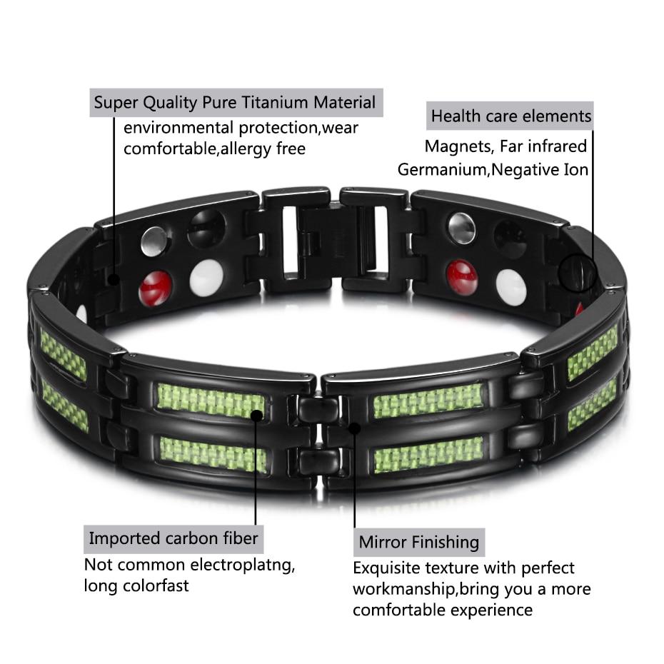 HTB1rvlPufiSBuNkSnhJq6zDcpXas - Titanium Bracelets 4 Health Elements Germanium Magnetic Bracelets for Arthritis
