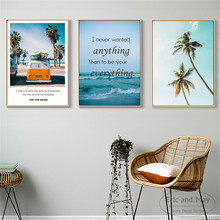 Travel On the Beach Landscape Art Wall Pictures Posters Prints Canvas Art Unframed Paintings Decoration Modern Home Decor Cuadro modern seaside sunrise palm tree beach wall art posters and prints canvas paintings on the wall home decoration
