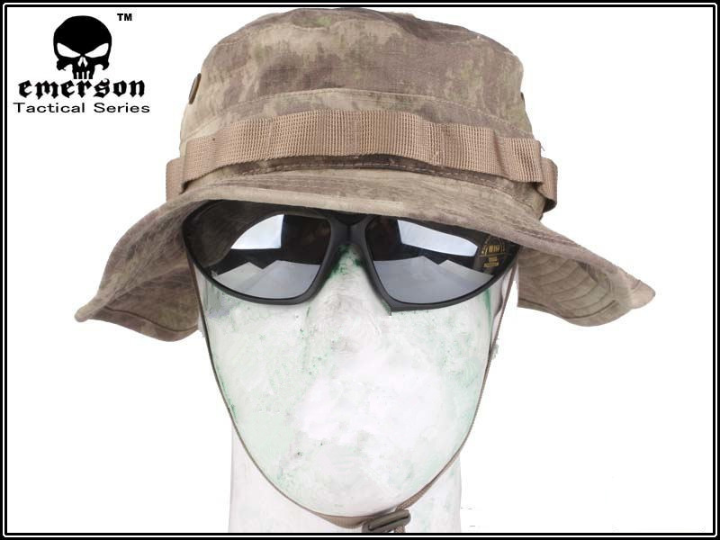 EMERSON Boonie Hat Military Tactical Army Hat Anti-scrape Grid Fabric camouflage hat atacs Hunting Cap EM8534 ...