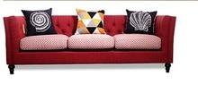 최신 홈 가구 유럽 현대 패브릭 거실 소파 단면 벨벳 천으로 소파 3 인승 미국 컨트리 스타일