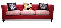 Newest Home Furniture European Modern Fabric Living Room Sofa Sectional Velvet Cloth Sofa Three Seater American