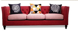 Image 1 - Newest Home Furniture European modern Fabric Living Room Sofa sectional velvet cloth sofa three seater American country style