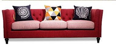 Newest Home Furniture European modern Fabric Living Room Sofa sectional velvet cloth sofa three seater American country style