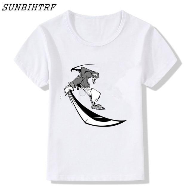 Unisex Youth T-Shirt Girls Boys Short Sleeve Shirt Samurai Warrior Cartoon Anime Kids T-Shirt Graphic Tee