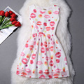 New 13 to 20 year-old girl fairy princess dress of cool summer chiffon printing A word The girl will choose dress party