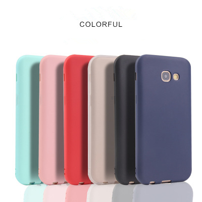 Scrub Phone Case For Sumsung S9 Plus S6 S7 Edge Soft Thin Slim Cover Phone Case Candy Colors Tpu Back Coque Funda