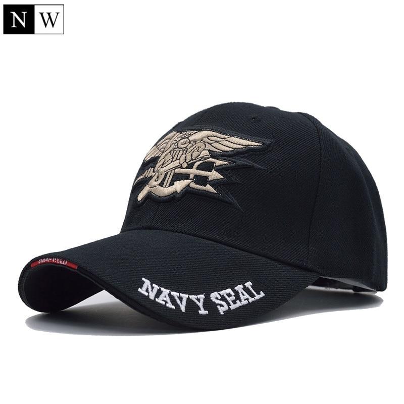 [NORTHWOOD] Высококачественная мужская бейсбольная Кепка в морском стиле США, темно-синяя кепка с уплотнениями, тактическая армейская Кепка, Кепка с козырьком, бейсболка для взрослых - Цвет: Black