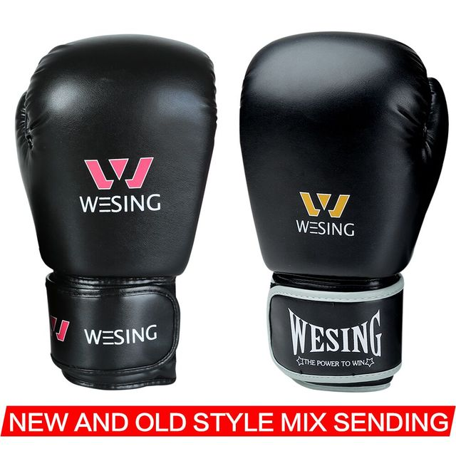 WESING Pro Style MMA Boxing Gloves with Large Size Adult Training Sparring Muay Thai Sanda Boxer Gloves guantes de boxeo 6001