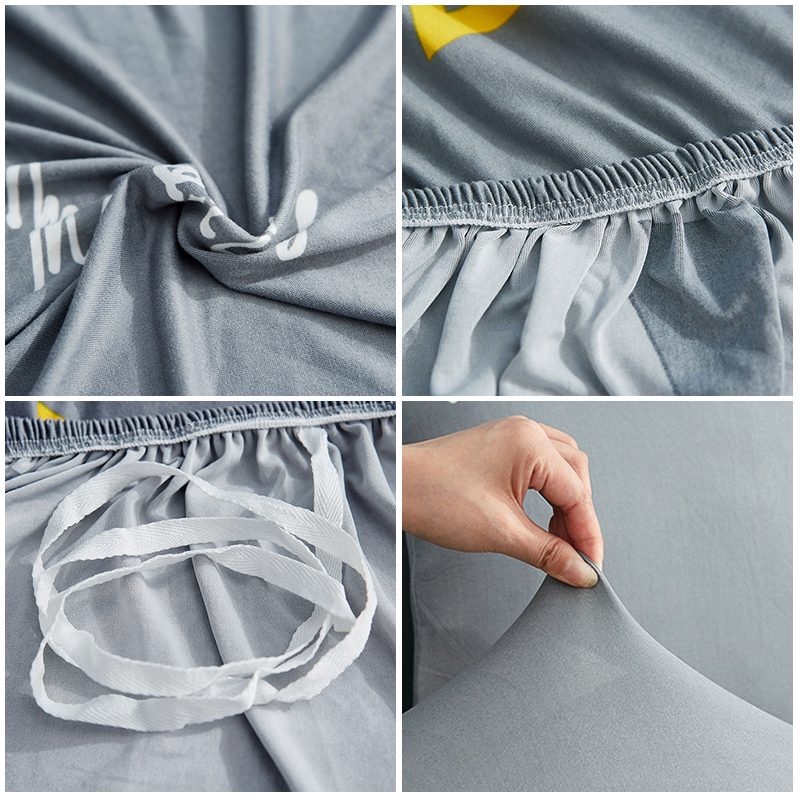 2 Pcs Elastic Couch Cover for Sectional and L Shaped Sofa Made of Spandex Material 3