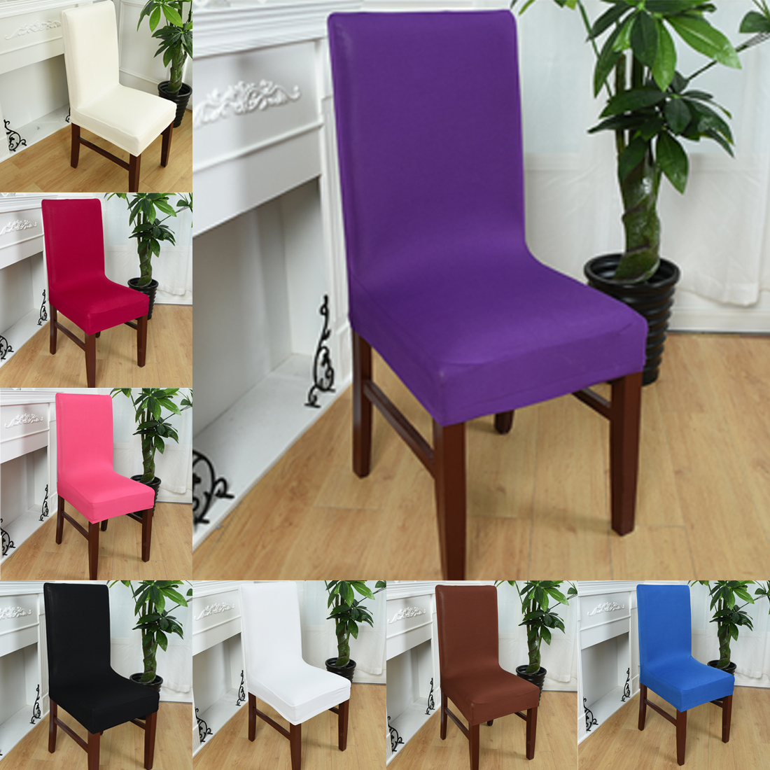 Free Shipping Spandex Strech Cadeiras For Dining Gaming Chair Weddings And The Office Ch ...