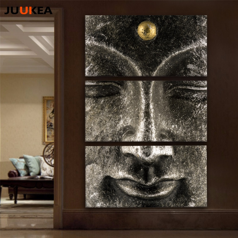 Buy buddha painting 3 panel classic hot for Home decor items on sale
