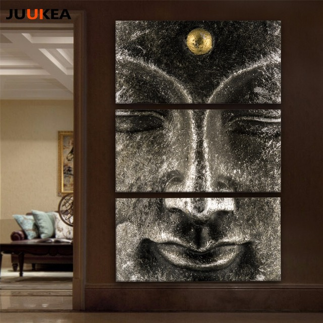 Buddha Painting 3 Panel Classic Hot Sale Canvas Art Print Painting Poster  Modern Wall Art Picture