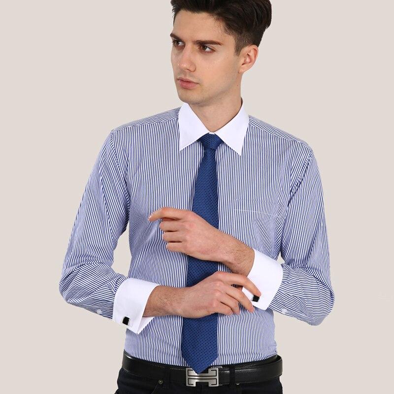 Luxury French cuff Button MENS Dress Shirt 2017 New