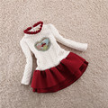Winter New Girls Children Cotton Velvet Dress Long Sleeves and Thickened Kids Clothing