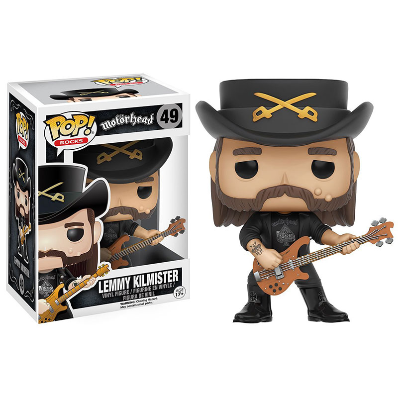 Funko pop Official Rocks: Lemmy Kilmister Vinyl Action Figure Collectible Model Toy with Original Box  funko pop zootopia fox nick 186 pvc action figure collectible model toy 10cm kt2247