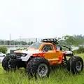 M1211 1/12 báscula todoterreno RC coche de carreras 2,4G eléctrico 4WD coche de Control remoto 45 KMH de alta velocidad Drift RC camión con LED