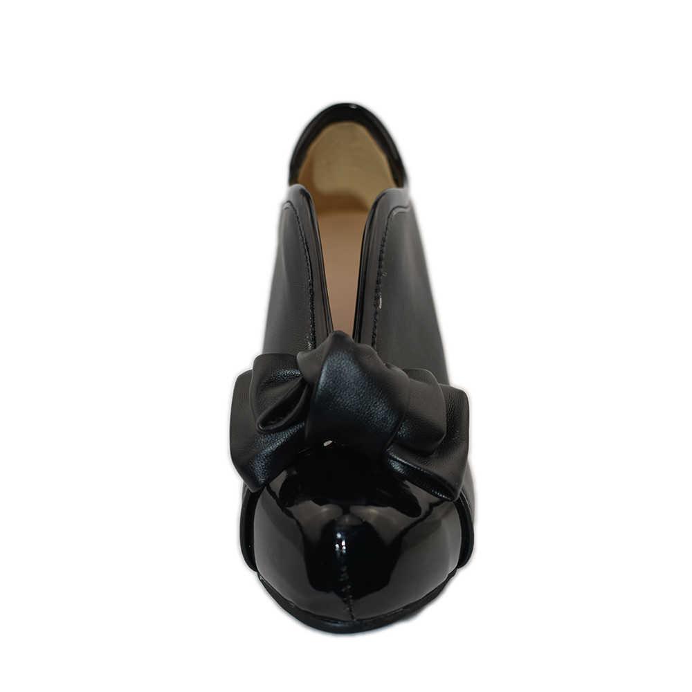 KARINLUNA/2018; Прямая поставка; большие размеры 34-48; обувь на высоком каблуке; Женская весенне-летняя обувь с милым бантом для свадебной вечеринки; женские ботинки